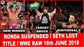 Fake Suspension ! Brand New Winner ! WWE Monday Night Raw 18/06/2018 Highlights