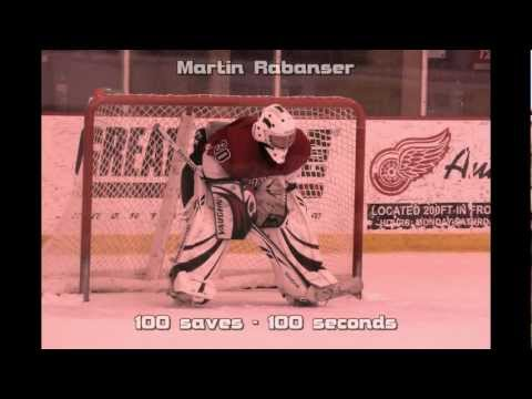 100 saves in 100 seconds - Martin Rabanser