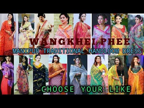Manipur Traditional Handloom Dress Wangkhei Phee Wangkhei Phee Mantri Handloom Collection By Manipur Sanaleibak