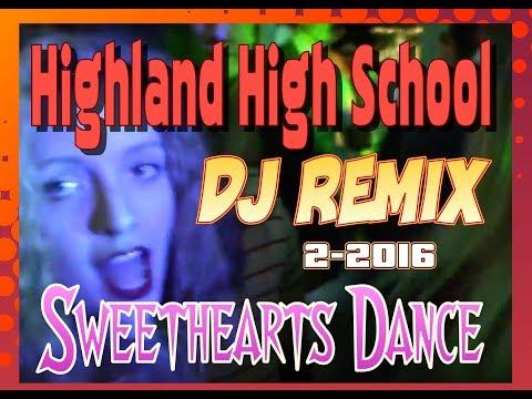 DJ REMIX - JOHN FRANCO - HIGHLAND  HIGH SCHOOL - sweet hearts dance - DJ SET UP