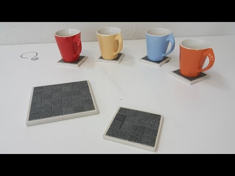 How to Make a Mosaic Tile Coaster - Upcycling Idea
