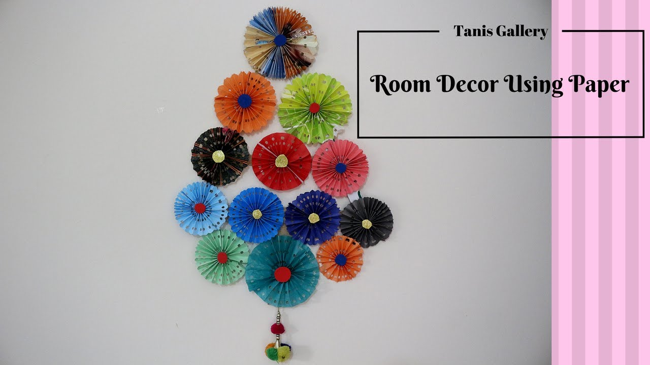 How to make a diy amazing room decor using paper paper for Room decor ideas step by step