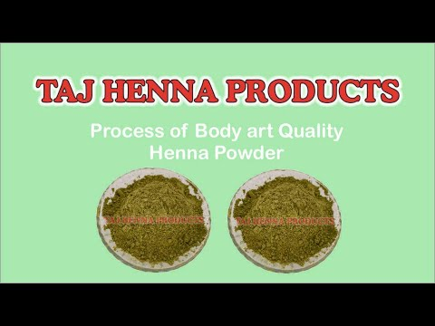 Taj Henna Products Process Of Body Art Quality Henna Powder Henna Powder Youtube