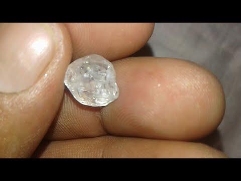 Raw uncut diamond /rough diamond identification