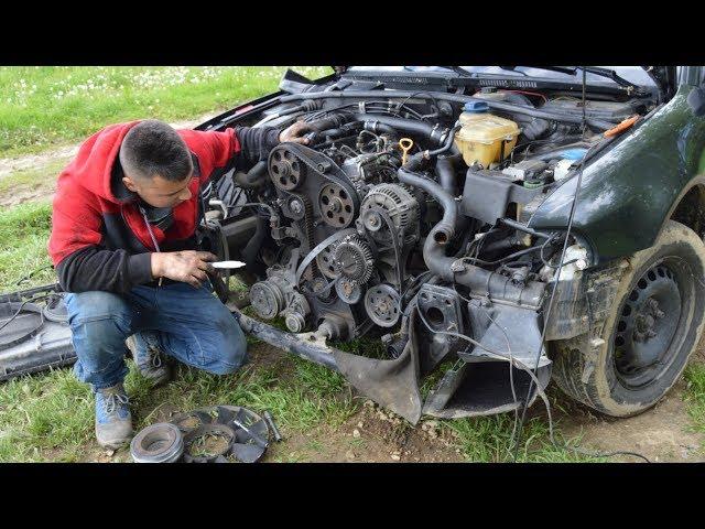 Serwis Polowy u NAUSZKA - Wymieniamy rozrząd i pompę wody w Audi A4 B5