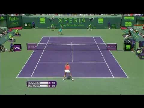 Agnieszka Radwanska vs Sharapova - Miami 2012 Final - Highlights