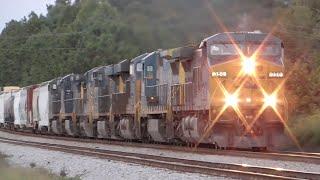 [1I] CSX Trains Across the GA/SC Border + 7-Unit Lashup, Calhoun Falls - Hull, 09/13/2015 ©mbmars01