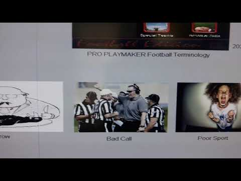 Proplaymaker Football Terminology