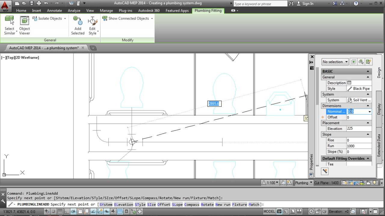 AutoCAD MEP 2014: Creating a Plumbing System