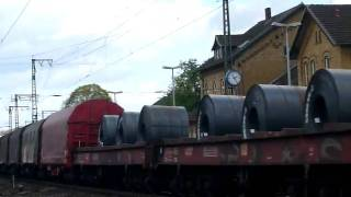 BR 152 with freight train rolls of steel