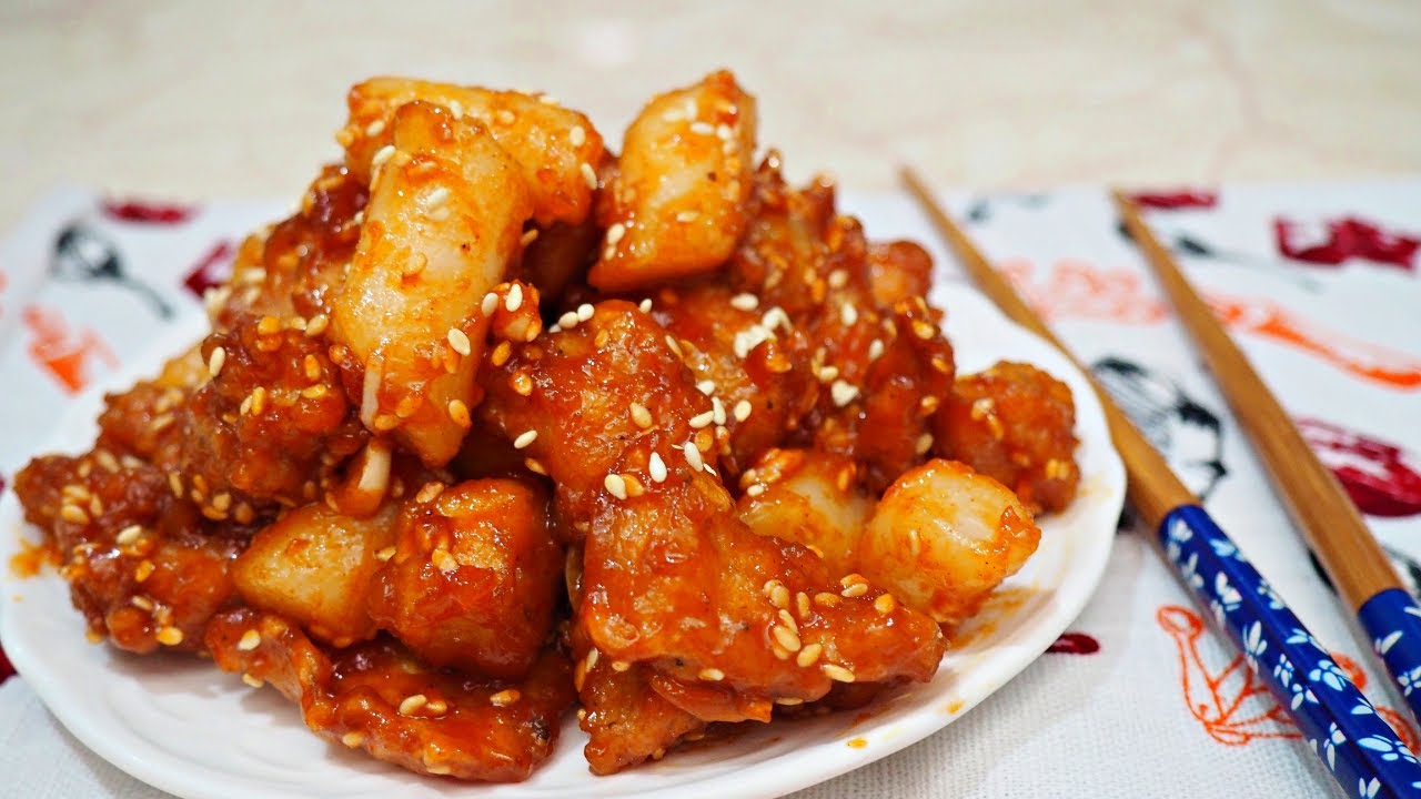 Resep Ayam Goreng Korea Enak Banget Dakdaengjong Jajanan Ayam Korea Youtube
