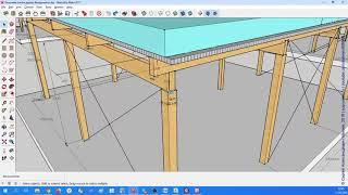 ЛИРА-САПР. Построение геометрической модели навеса, назначение сечений элементов. Видео № 2.