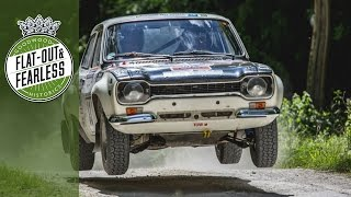 Hannu Mikkola attacks Goodwood Rally Stage in classic Escort