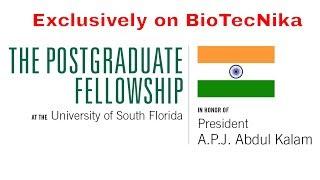 Apply for President A.P.J. Abdul Kalam Biotech Postgraduate Fellowship