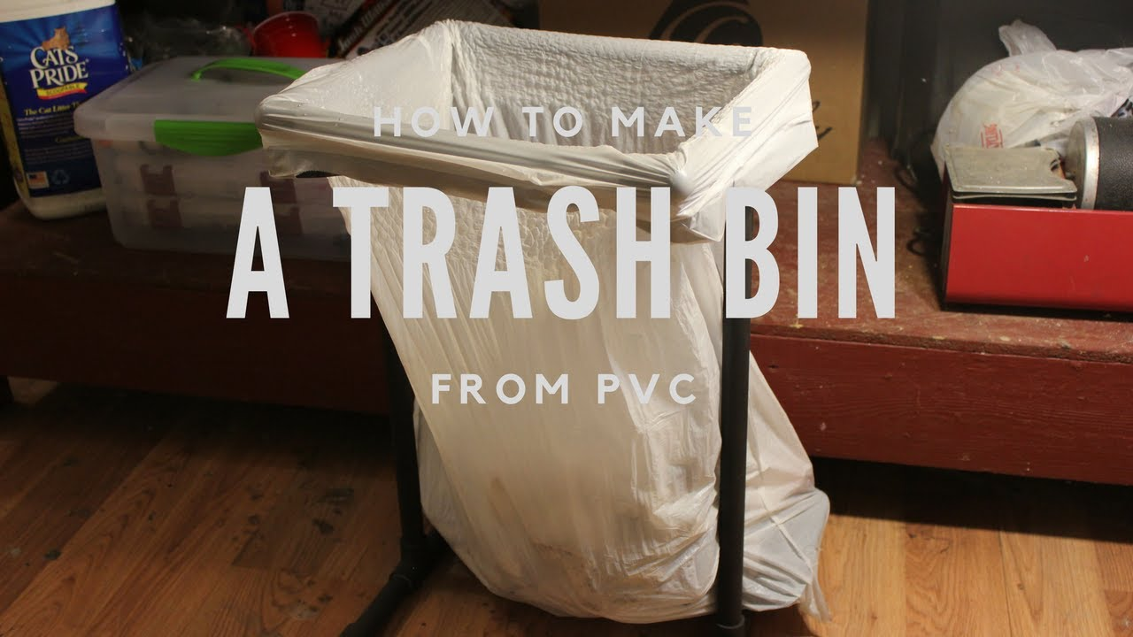 Laundry Trash Cans Diy How To Make A Trash Bin From Pvc