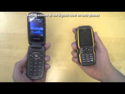 Sonim XP5560 BOLT vs Samsung Rubgy III - Speaker & PTT volume (a)