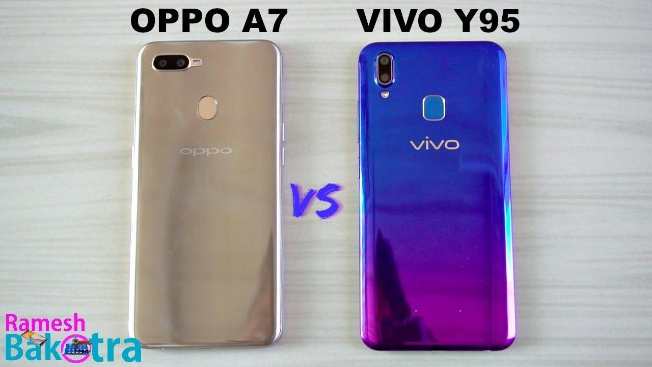 Oppo A7 vs Vivo Y95 SpeedTest and Camera Comparison - YouTube
