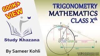 Learn Trigonometry Online with Sameer Kohli for Class X Maths | Study Khazana