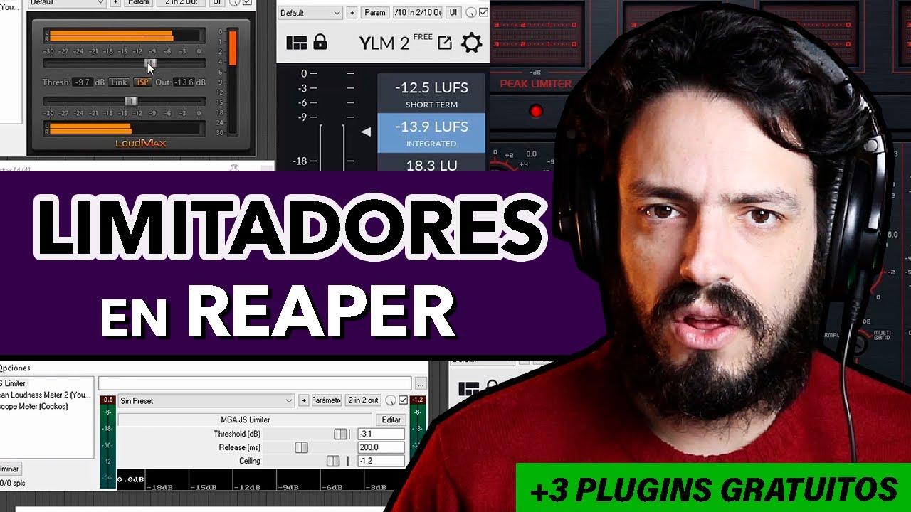 Cómo usar limitadores en REAPER + 3 plugins gratuitos