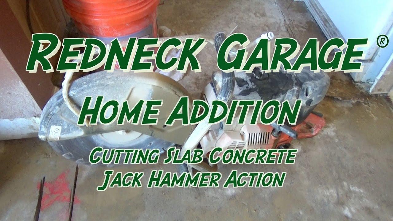 Remodeling Bathroom Slab Foundation home remodel - cutting concrete in slab for plumbing - jackhammer