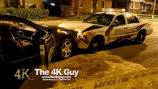 Toronto: Police Car Involved In Head-on Collision 10-10-2015