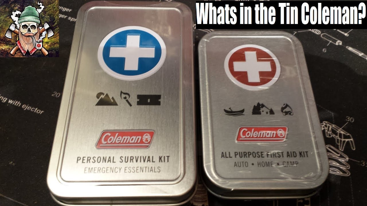 personal survival kit all purpose first aid kit edc tin