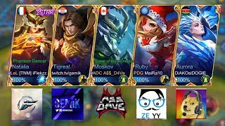 best mobile legends youtuber colab feat dogie gemik iflekzz ze yy dave