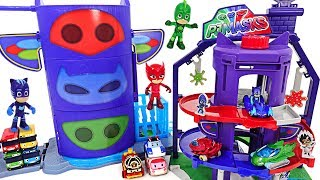 PJ Masks Team Headquarters appeared! Let\'s play with Robocar Poli, Tayo at new base! #DuDuPopTOY