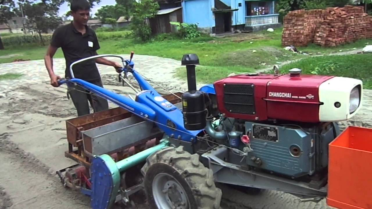 Farm Tractor 2 Wheel : Strip tillage planter seeder for power tiller or wheel