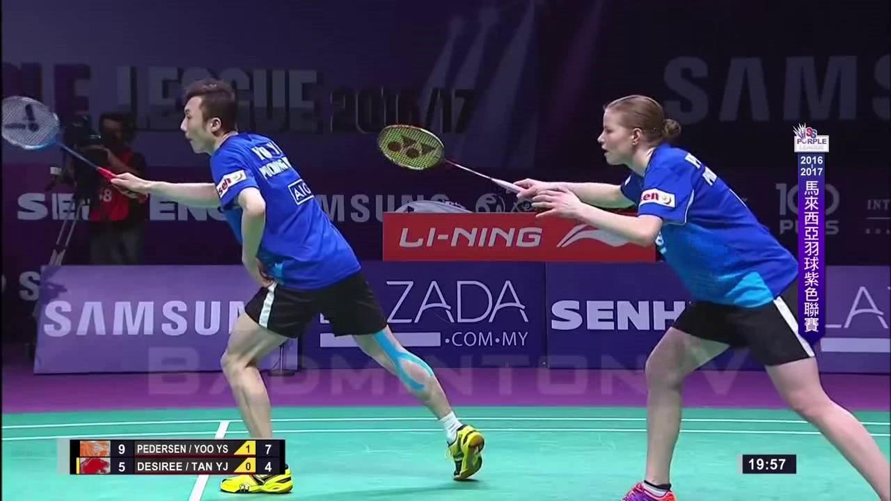 Badminton 2017 Purple League Yoo Yeon Seong Christinna Pedersen vs