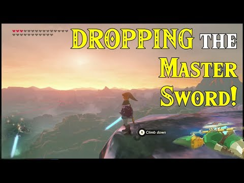 DROPPING the Master Sword! Letting it Go in Zelda Breath of the Wild