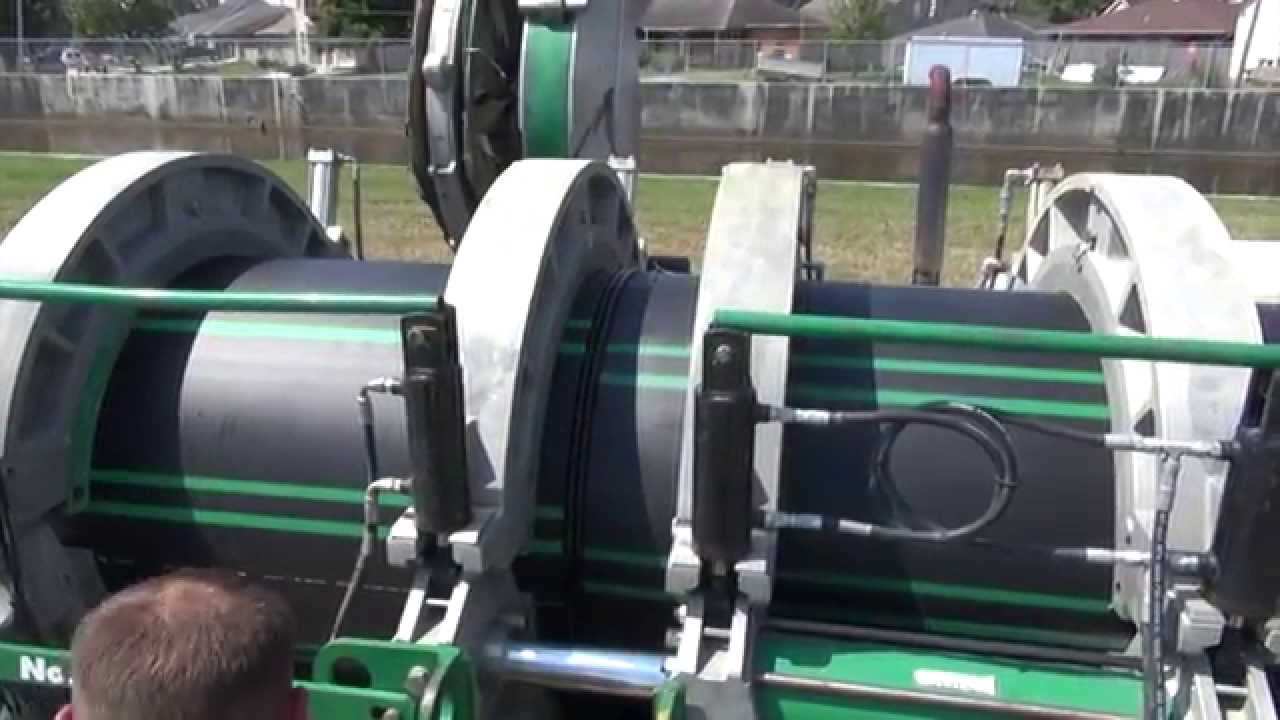 Hdpe dr quot sewer pipe mcelroy fusion machine youtube