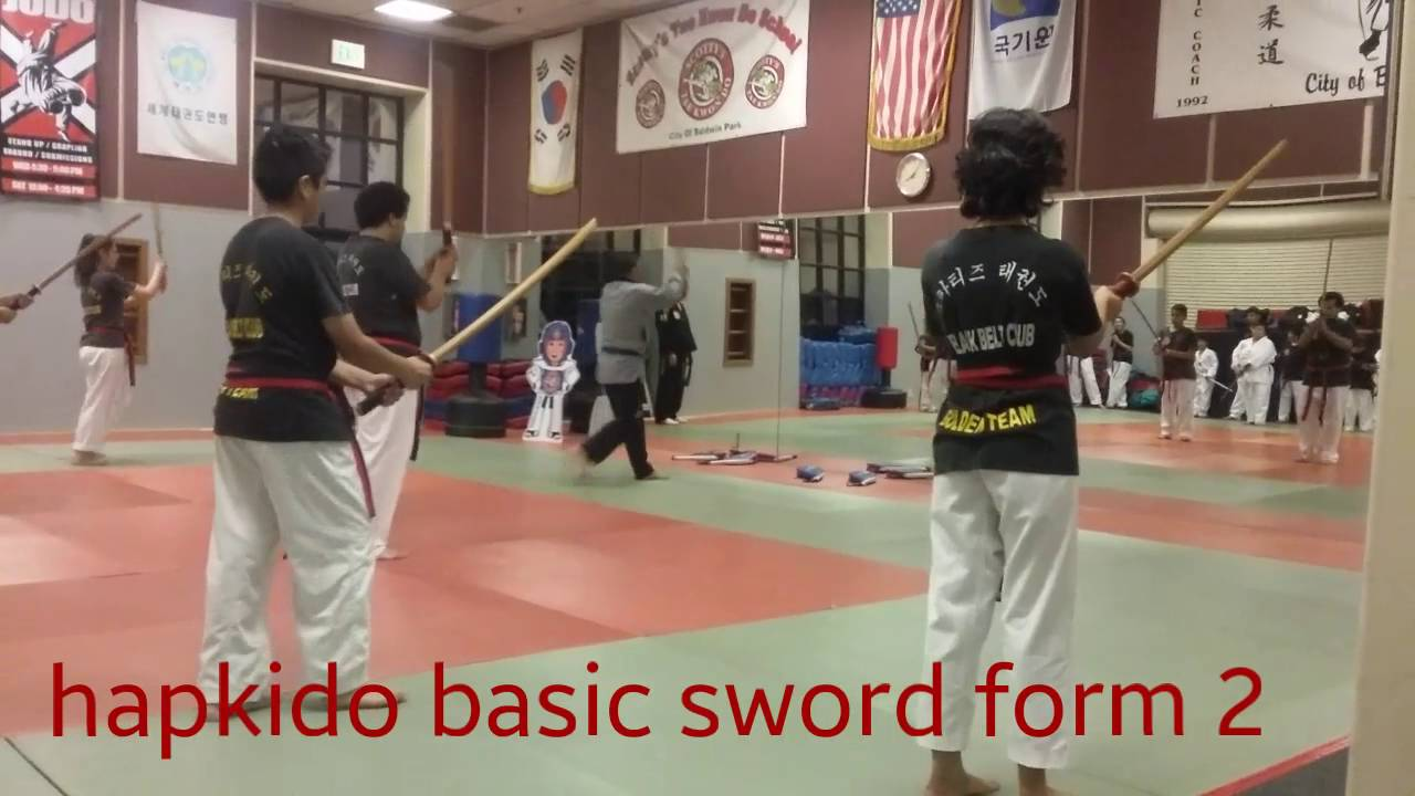 Scotty's Taekwondo hapkido basic sword form 2 taught Grand Master Herman