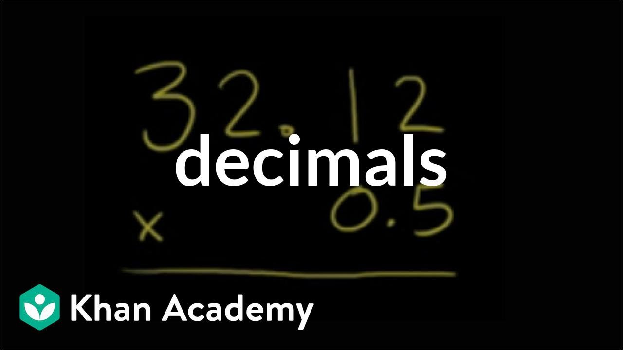 small resolution of Multiplying decimals (examples