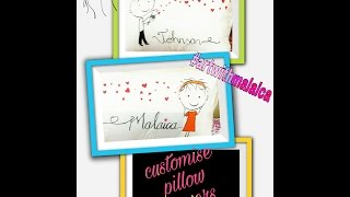 How to customise pillow covers