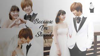 Because I'm Stupid - SS501    Boys Over Flowers    Jan Di + Ji Hoo    Eng Sub + Rom