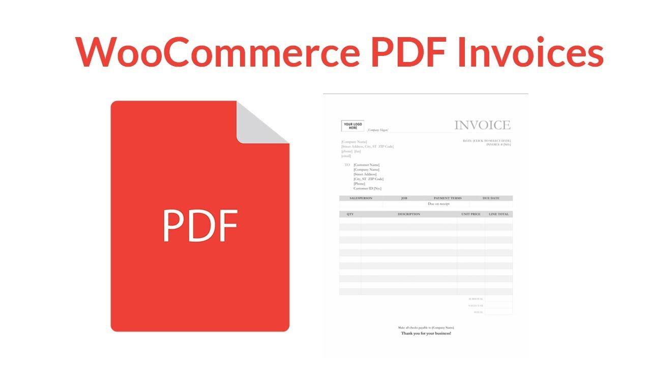 WooCommerce PDF Invoices Plugin Tutorial YouTube - Free online invoice templates vegan online store
