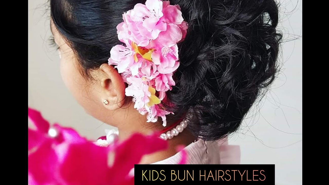 Bun Hairstyles For Kids   Hairstyles Tutorial   Simple ...