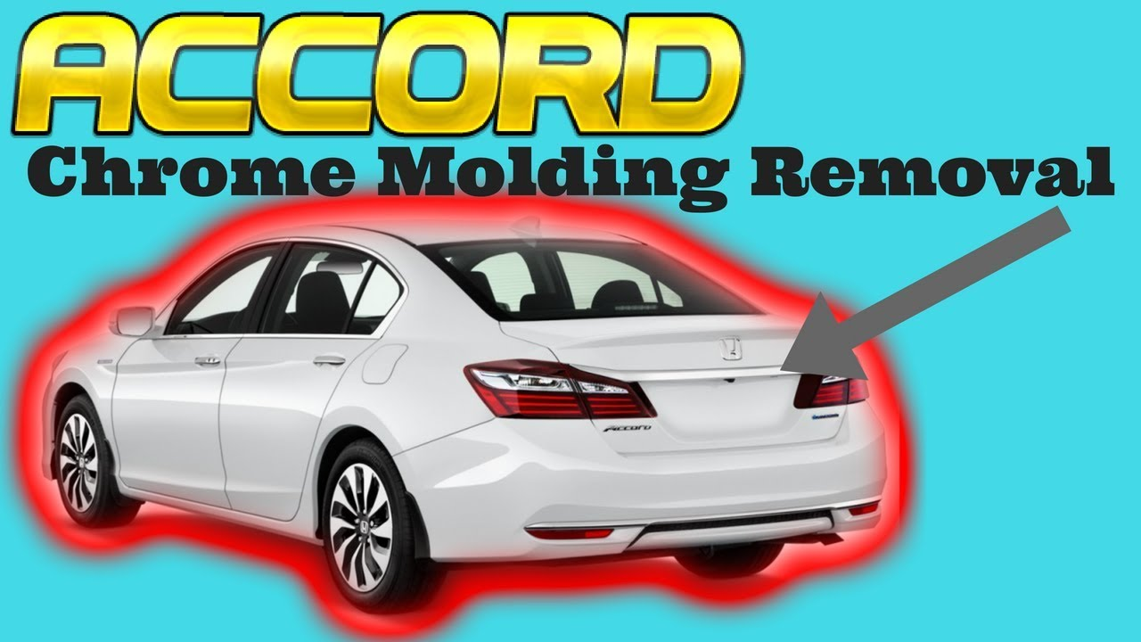 Rear Bumper Trim Compatible with HONDA ACCORD 2016-2017 Chrome Sedan