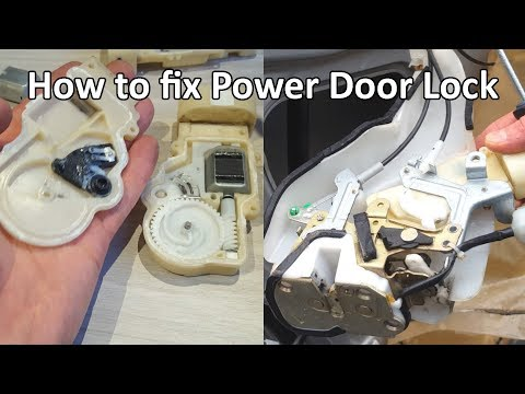 How to fix power door lock actuator Toyota Lexus DIY