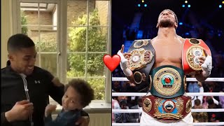 TWO TIME! ANTHONY JOSHUA SHARES HEARTWARMING MOTIVATIONAL VIDEO WITH HIS SON