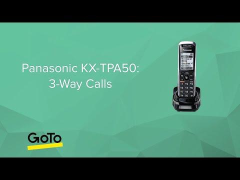 Panasonic KX-TPA50 - 3-Way Calls