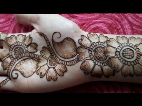 Shaded Mehndi Design Simple