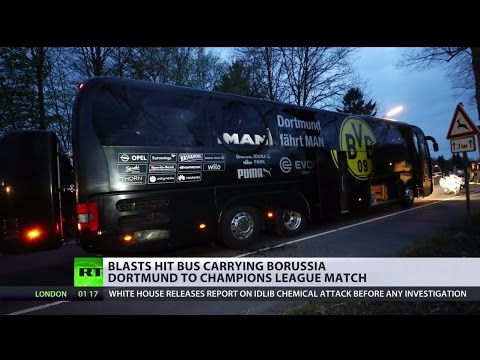 'Serious explosives' hit bus carrying Borussia Dortmund to Champions League match