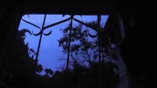 Гроза. Более 250 всполохов молний за 20мин. Вид из окна