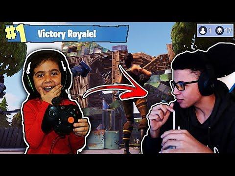 MY 5 YEAR OLD LITTLE SISTER BUILDS AND PLAYS LIKE MYTH!! (FORTNITE VICTORY ROYALE!)