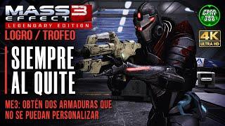 Mass Effect 3: LE   Logro / Trofeo: Siempre al quite (2 armaduras que no se pueden personalizar)