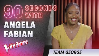 The Blind Auditions: 90 Seconds With Angela Fabian | The Voice Australia 2020