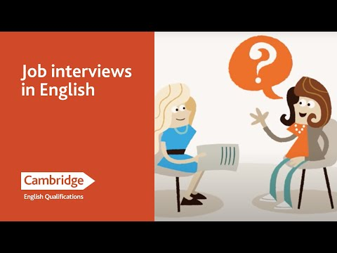 English Language Learning Tips - Job Interviews in English