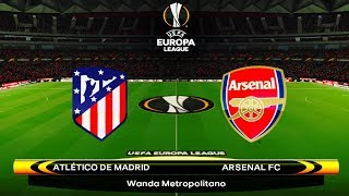 Arsenal vs atletico madrid | europa 26 april 2018 gameplay